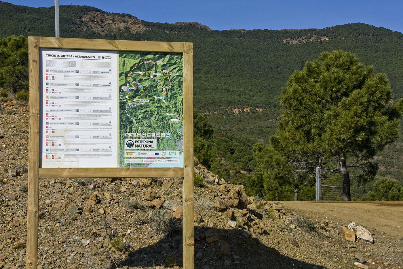 Diseño, fabricacion e instalación de rutas por espacios naturales