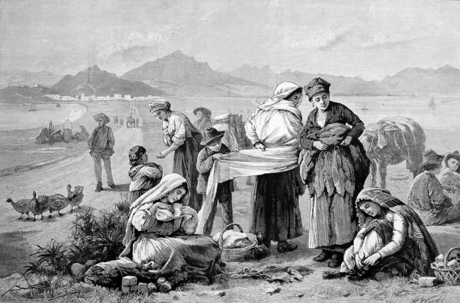 Matuteras en zona neutral de Gibraltar. Autor desconocido