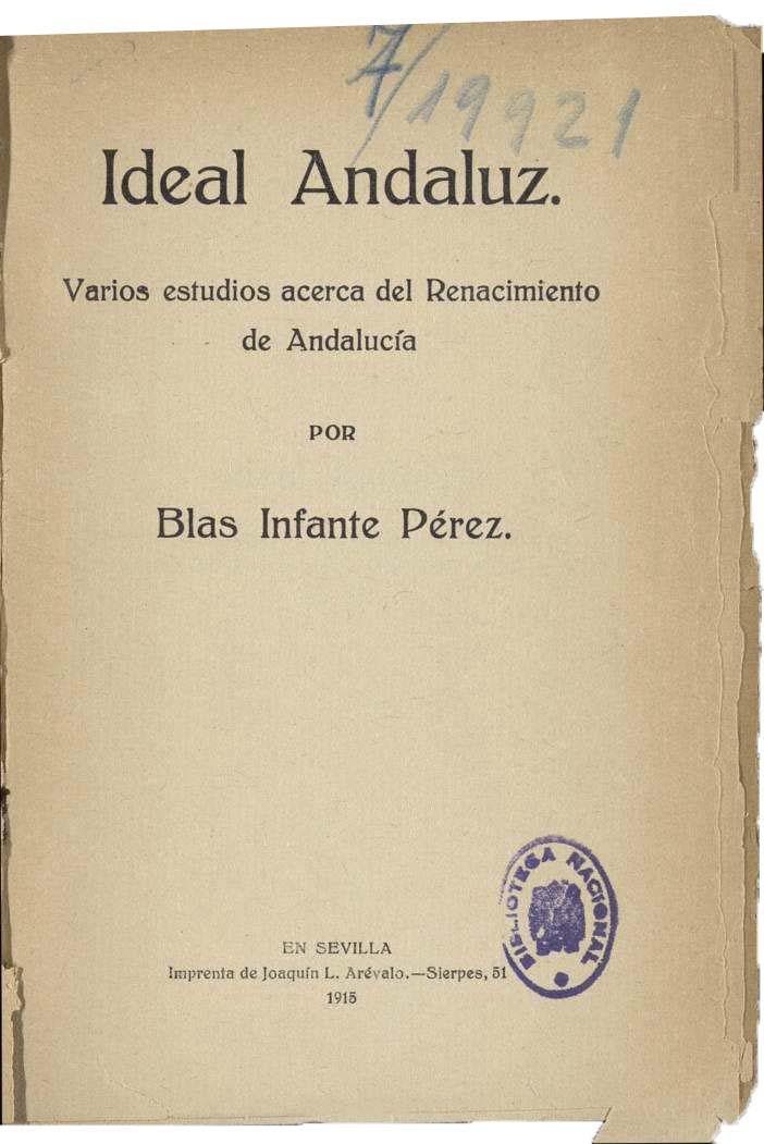 El Ideal Andaluz (Blas Infante)
