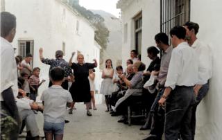 Baile de fandango casareño (Archivo Franchesca Ledesma Lazo). Coloreada por J.Martos