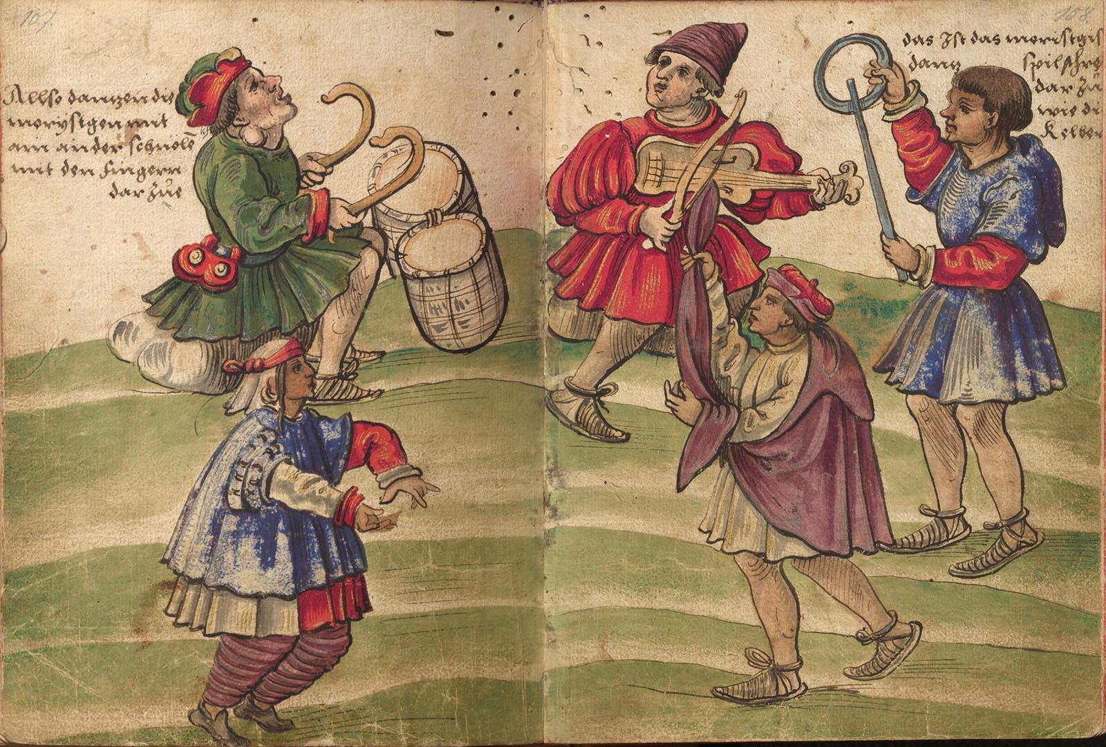 Trachtenbuch. Danza morisca (Christoph Weiditz, 1528-1529)