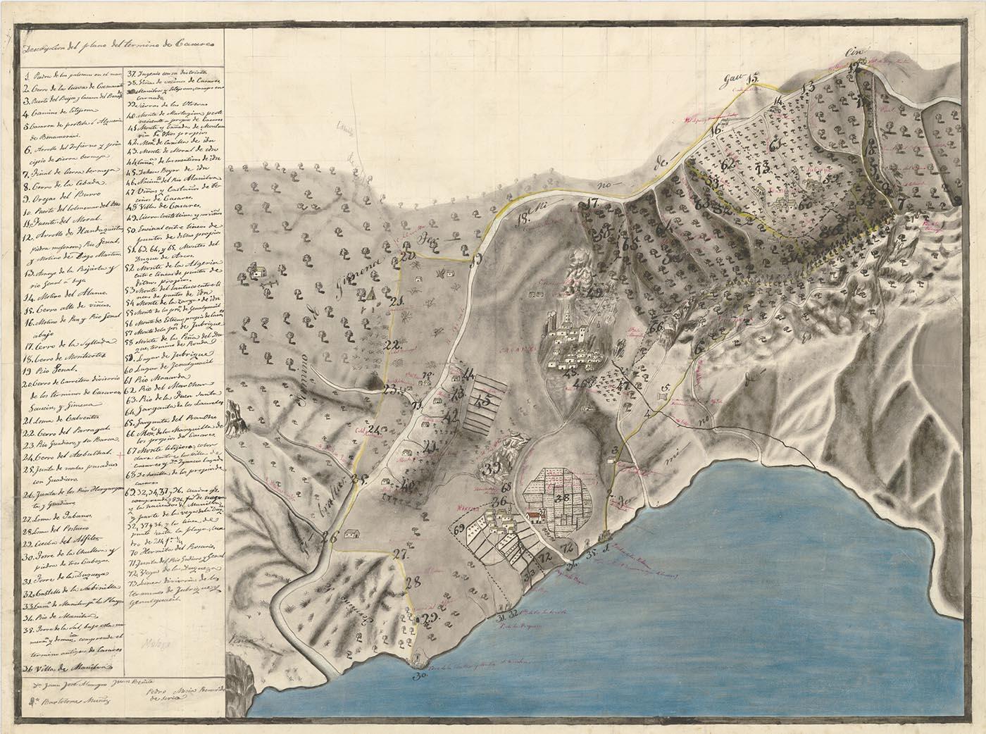 Plano de la Tierra de Casares (siglo XVIII)