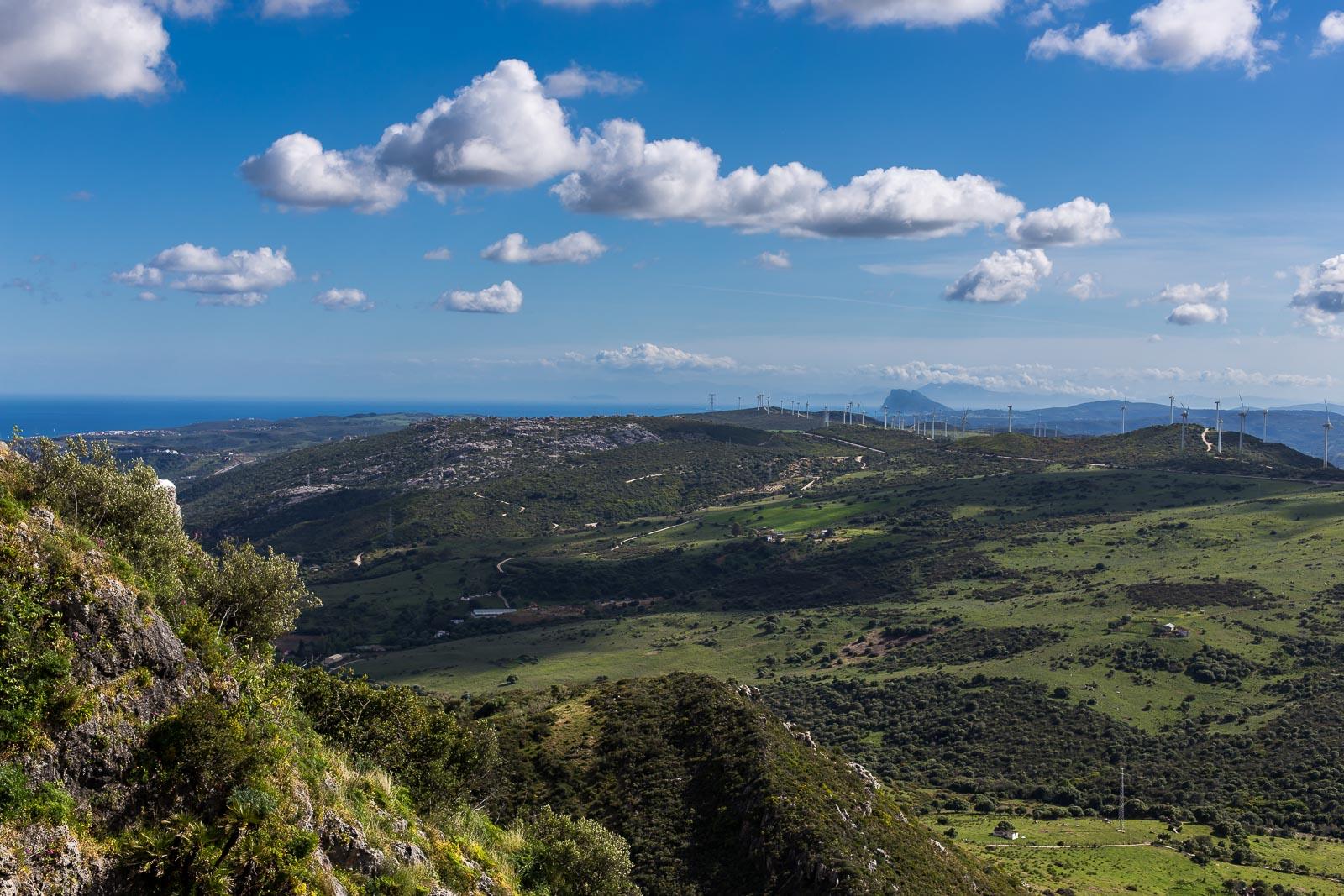 Castillo de Casares. Vistas hacia el Estrecho de Gibraltar