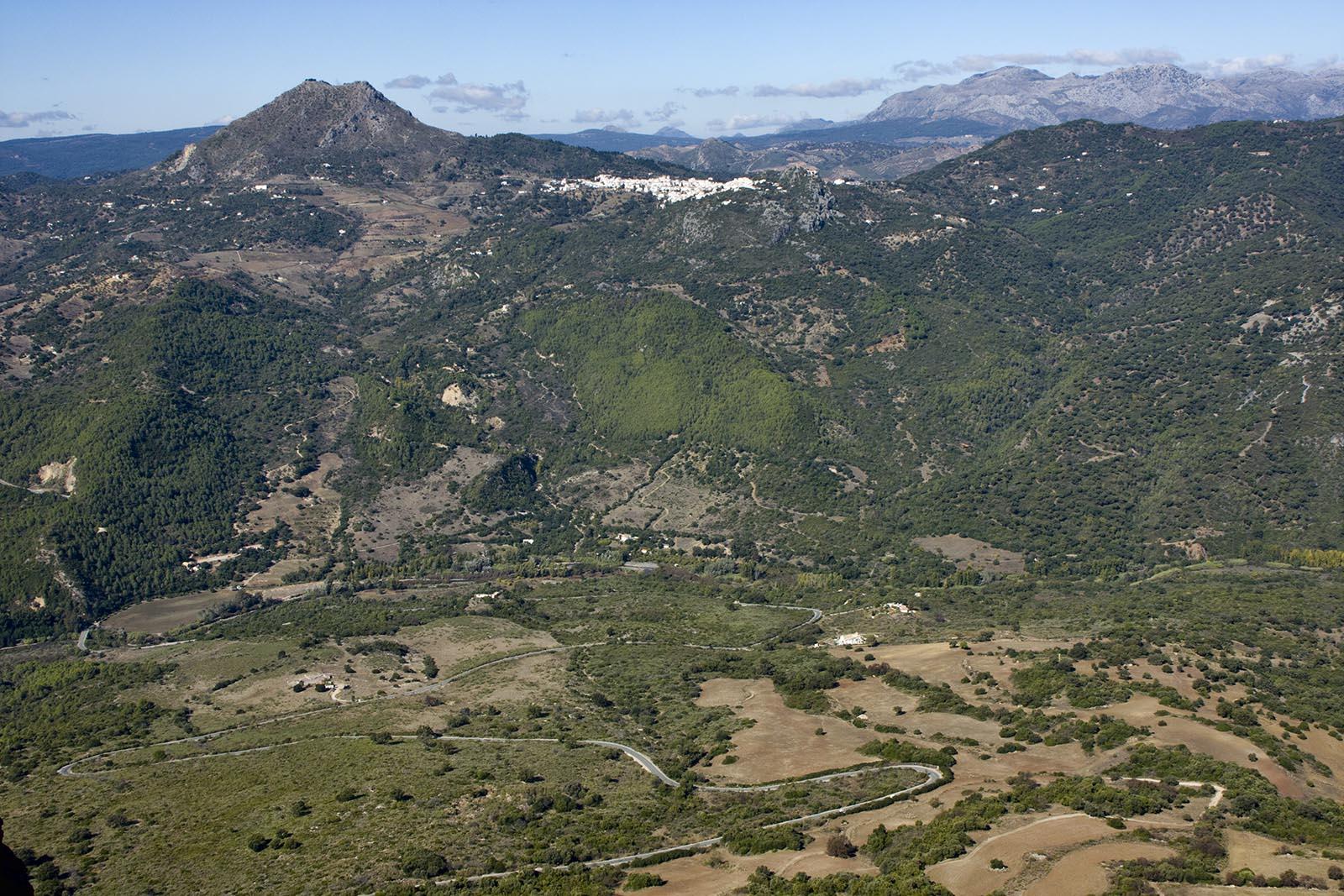 Valle del Genal y Gaucín desde Sierra Crestellina (Casares)
