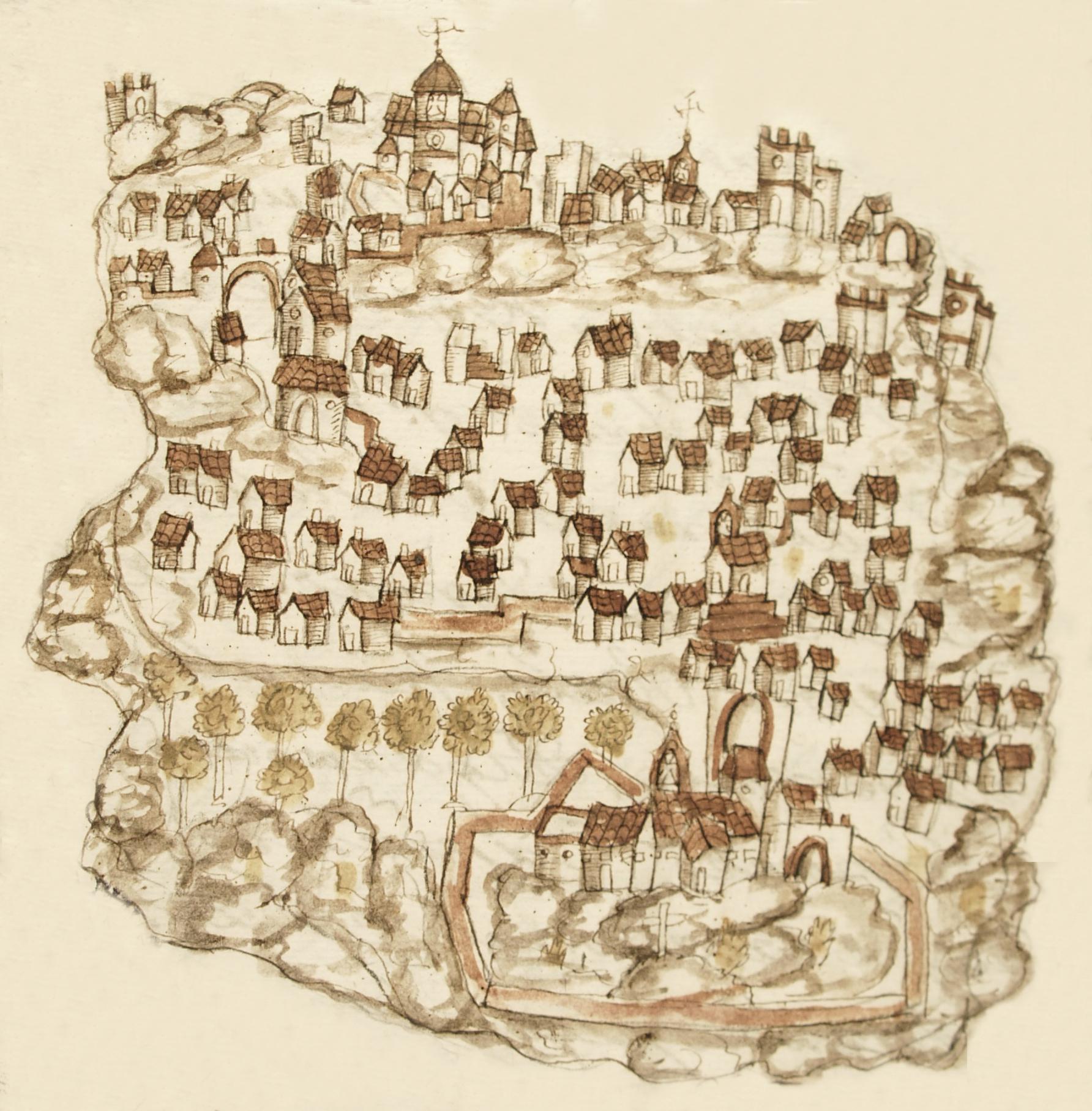 Croquis de Casares en el Catastro de la Ensenada (1752)