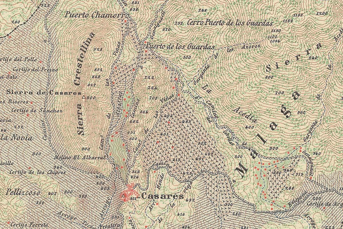 Callejero histórico de Casares. Año 1894