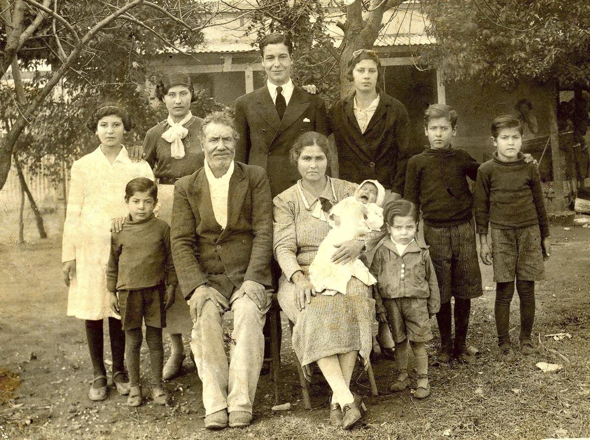 Familia andaluza emigrante a Argentina (principios del siglo XX)