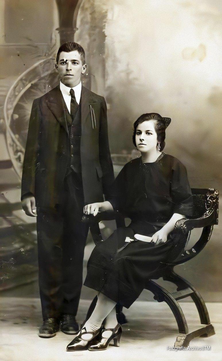 Retrato de estudio de matrimonio (principios del siglo XX)